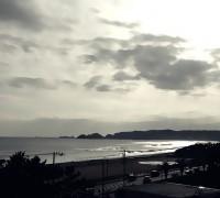 亀田病院から見る鴨川の海